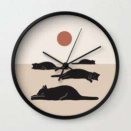 Cat Landscape 69 Wall Clock