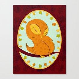 Sleepy Owl Canvas Print