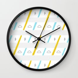 Clou/Thunder Cutie Pattern Wall Clock