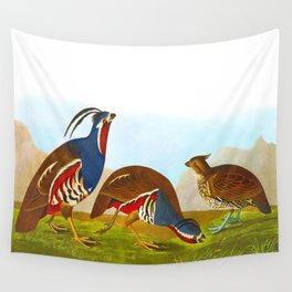 Plumed Partridge and Thick-legged Partridge Wall Tapestry