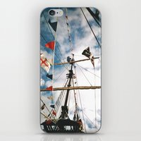 pirate ship iPhone & iPod Skins featuring Pirate Ship by For the easily distracted...