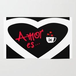 Amor es... = Love is... Rug