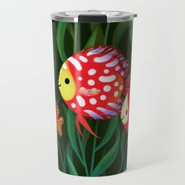 Red discus Travel Mug
