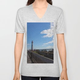 Wawatam Lighthouse Unisex V-Neck