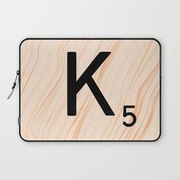 Scrabble Letter K - Large Scrabble Tiles Laptop Sleeve