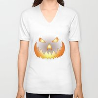 halloween V-neck T-shirts featuring Halloween by Nicklas Gustafsson
