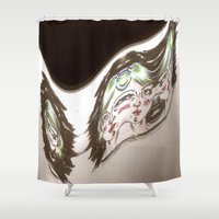 glitch Shower Curtains featuring Glitch by Rhys Prosser