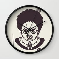 potter Wall Clocks featuring Barry Potter by Ryder Doty