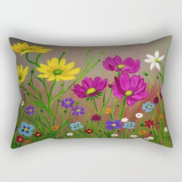 Spring Wild flowers  Rectangular Pillow