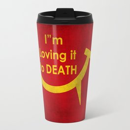 McViper the zombie and vampire fast food chain, Bloody good food is our motto! Travel Mug