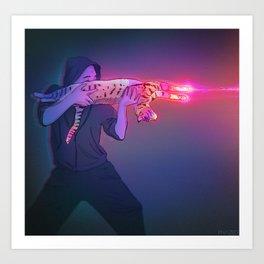 Cat Gun Art Print