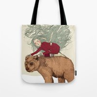 winter Tote Bags featuring Winter by Sandra Dieckmann