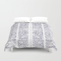 indigo Duvet Covers featuring Indigo by Zeryndipity