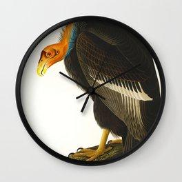 California Vulture Illustration Wall Clock