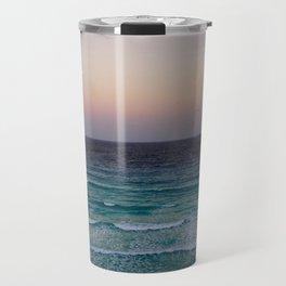 Beach and sky at sunset time Travel Mug
