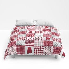 Alabama bama crimson tide cheater quilt state college university pattern footabll Comforters