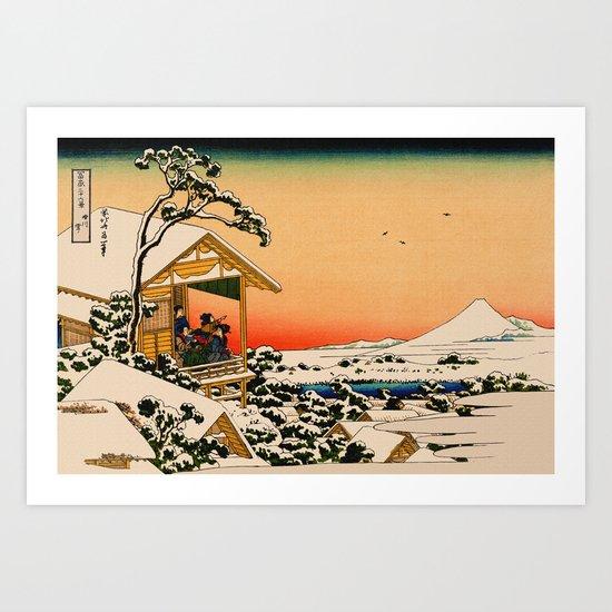 Snow at Koishikawa - Vintage Japanese Art Art Print