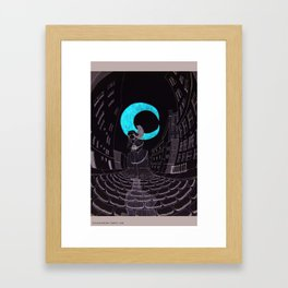 Swirley Shirley Framed Art Print