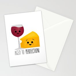 Aged To Perfection - Wine & Cheese Stationery Cards