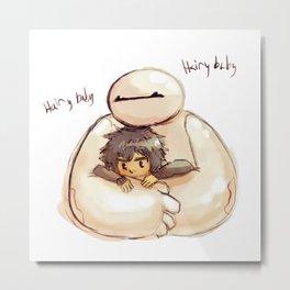 Big Hero 6 Hiro and Baymax Metal Print