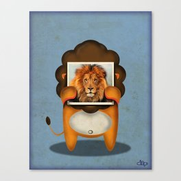 Real Lion Canvas Print