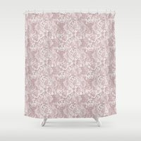 baroque Shower Curtains featuring baroque floral by Cindy Lepage