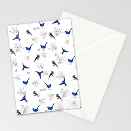 New,Mountain bluebird,floral pattern Stationery Cards