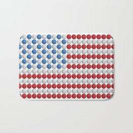 Basketball American Flag Bath Mat