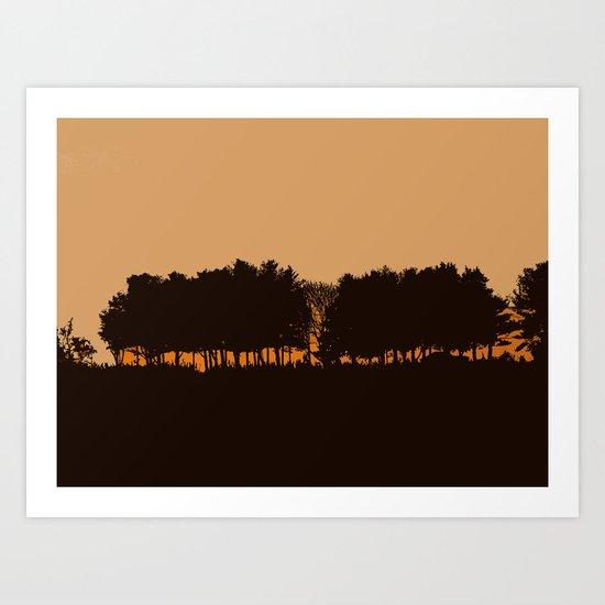 Harvey's Neck Sunset Art Print