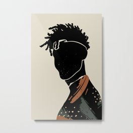 Black Hair No. 2 Metal Print