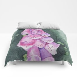 Watercolour Foxgloves Comforters