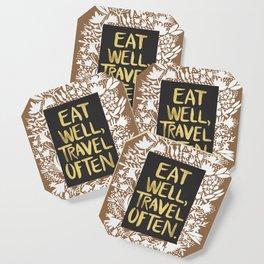 Eat Well, Travel Often (on Kraft) Coaster