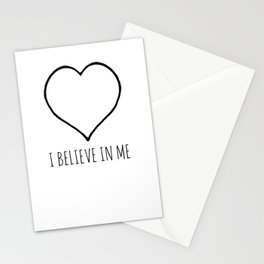 I Believe in Me Stationery Cards
