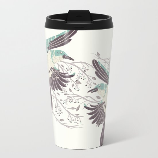 Birds of Summer Metal Travel Mug