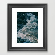 East River Bank - New York Framed Art Print