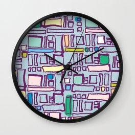 Pastel Block Wall Clock