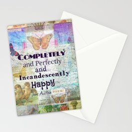 Jane Austen Pride and Prejudice Quote Completely And Perfec Stationery Cards