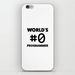 World's #0 programmer iPhone Skin