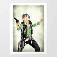 han solo Art Prints featuring Han Solo by Ayse Deniz