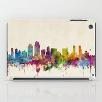 san diego iPad Cases featuring San Diego California Skyline by artPause