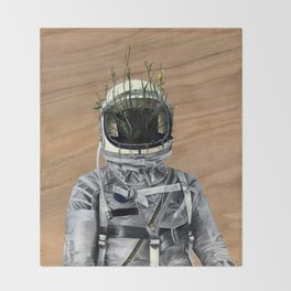 Cacti | Spaceman No:1 Throw Blanket