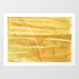 Sandy brown hand-drawn aquarelle Art Print