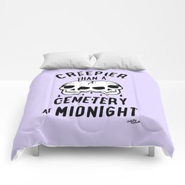 Creepier Than A Cemetery at Midnight Comforters