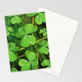 Shamrock St Patrick's Day Pattern Stationery Cards