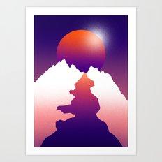 Spilt moon Art Print