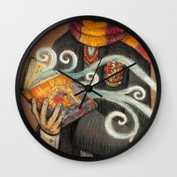 marauders Wall Clocks featuring Books magic by nokeek