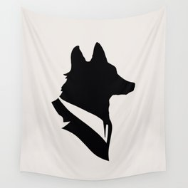 Monsieur Renard / Mr Fox - Animal Silhouette Wall Tapestry