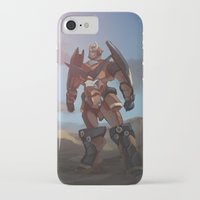 gurren lagann iPhone & iPod Cases featuring Tengen Toppa Gurren Lagann by AmaSan