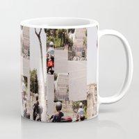 roman Mugs featuring Roman Traffic by Eva Lesko