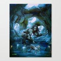 predator Canvas Prints featuring Predator by va-sily